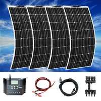 Boguang 12V 24V 400w Flexible Solar panel Mono with 20A comtroller Photovoltaic cable Solar modul kit RV Boat Caravan charging