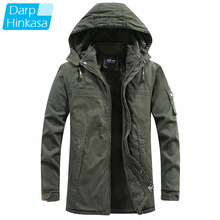 Jackets Men Parka-Coat Hooded Military Winter Thick Casual Windproof New