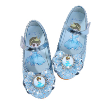 Elsa shoes Girls shoes Cartoon sofia Elsa Anna Kids Sneakers Snow Queen Shoes For Girls Sandals Flat Casual Shoes cheap piggy dream Rubber Fits true to size take your normal size Buckle Strap Print all season Children Lighted Unisex