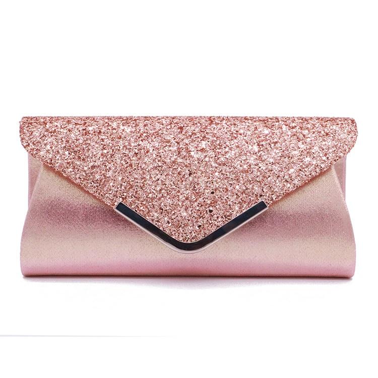 Fashion Casual Minaudiere Day Clutch Women Ladies Leather Mini Handbag Solid Glisten Bag Party Club Evening Bag