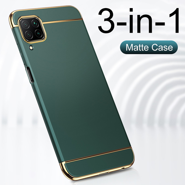 3 IN 1 Electroplating Luxury Protective Case For Huawei P20 P30 Lite P40 Lite Honor 20 Pro 10 Lite 8X 10i 9A 8 30 P smart 2019 Z