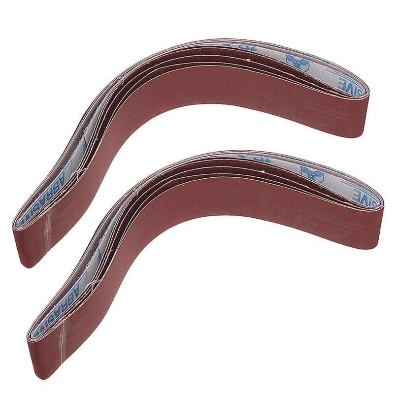 10pcs 40 To 1000 Grit 40mm X 740mm Sanding Belts For Angle Grinder Belt Sander Attachment Abrasive Tools