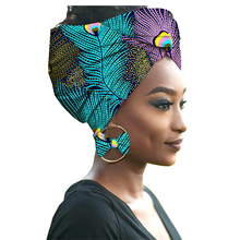 Distinctive Ankara African batik headscarf with earrings 100% cotton best quality material fabric nice Africa design for woman