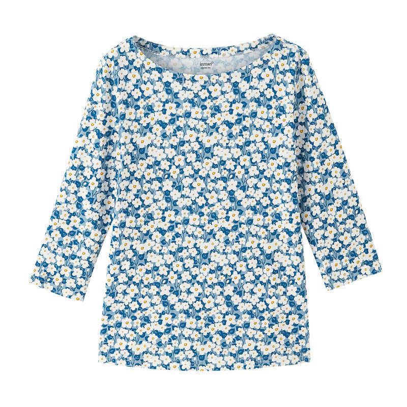 INMAN 2020 Autunno Nuovo Stile Vintage Femminile Camicia Magliette E Camicette O-Collo Tre Quarti di manica Varietà Stampato Base Magliette E Camicette Delle Donne T-Shirt