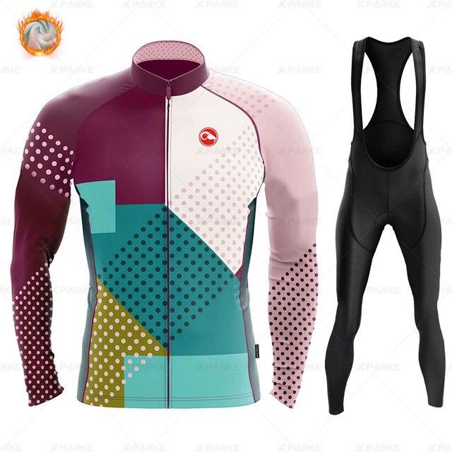 2020 velo de inverno pro conjunto camisa ciclismo mountian bicicleta roupas wear ropa ciclismo corrida roupas ciclismo conjunto 4