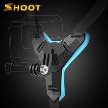 ยิงรถจักรยานยนต์คางหมวกกันน็อก Stand Mount สำหรับ GoPro Hero 9 8 7 5 Xiaomi Yi 4K Insta360กล้อง full Face ผู้ถืออุปกรณ์เสริม
