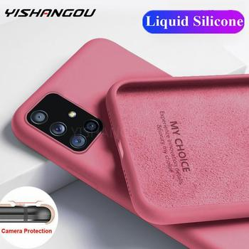 Soft Liquid Silicone Case For Samsung Galaxy A51 A71 A50 A70 S20 Ultra S10 Plus S10e Note 20 10 Lite S8 S9 Cover Coque 1
