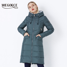 MIEGOFCE 2020 nowy zima kobiety kurtka płaszcz damski proste kobiety parki ciepłe zimowe damskie płaszcz wysokiej jakości biologicznej-długa parka tanie tanio CN (pochodzenie) Pani urząd Osób w wieku 18-35 lat zipper 71604 Pełna COTTON Poliester Grube Tkane Szeroki zwężone