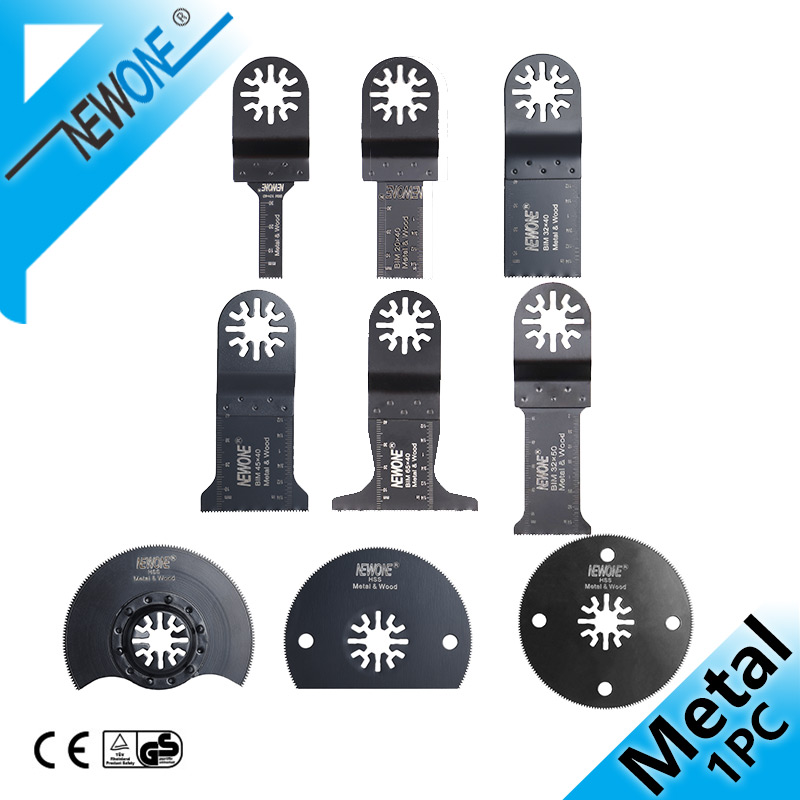 NEWONE Bi-Metal Oscillating Saw Blade Electric Tool Accessories Power Timmer Saw,Multitool Renovator Saw Blades Cutting Metal