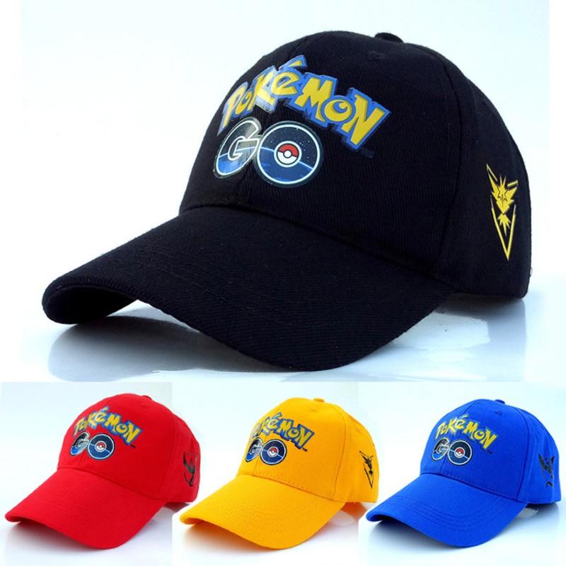 Pokemon Go Baseball Cap Anime Pocket Monster Cosplay Hats Cap Women Pocket Monster Valor Mystic Team Instinct Snapback Cap