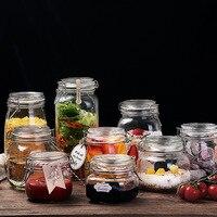 Verzegelde Blikken Glas Voedsel Flessen Honing Citroen Huishoudelijke Opslag Groenten Potten Met Covers Voor Kleine Passie Flessen Gebeitst