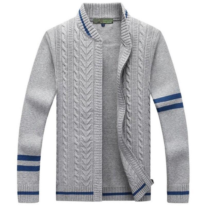 Men Sweaters Coat Winter Warm Men's Fashion Cardigan Sweater High Quality knitting Male Splice Sweater