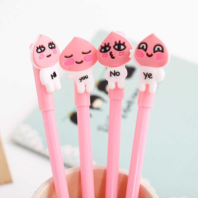 1 ชิ้นLytwtw's Kawaiiน่ารักสีชมพูพีชเจลปากกาอุปกรณ์สำนักงานโรงเรียนเครื่องเขียนเกาหลีญี่ปุ่นหวานน่ารักฟรี