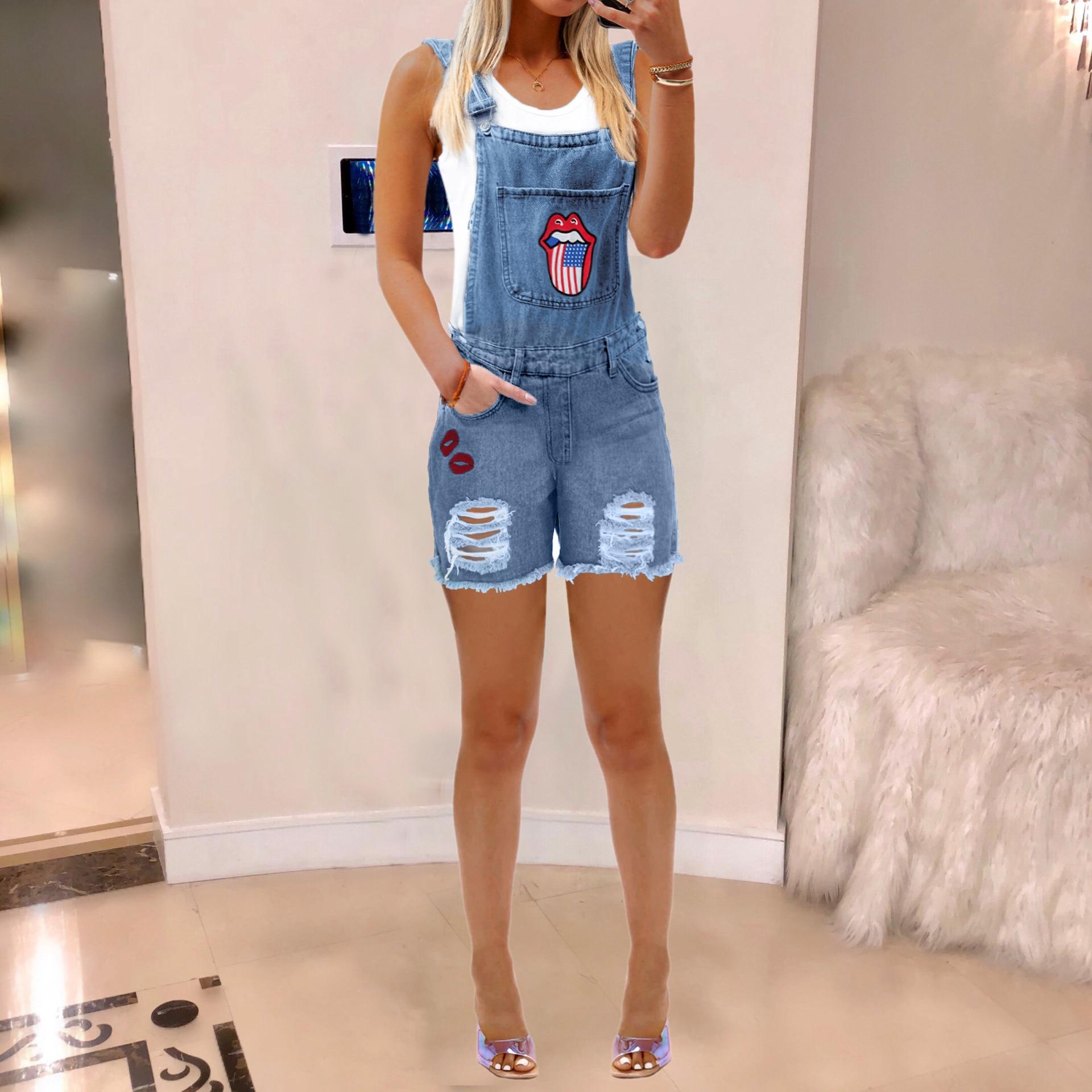 Women's Bib Leggings, Ripped Jeans for Women 3