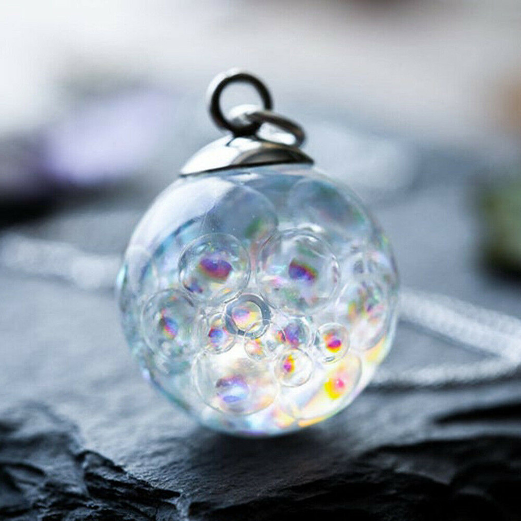 Женское Ожерелье, цветное ожерелье с пузырьками радуги, ожерелье на День святого Валентина, романтическое модное ювелирное изделие, подарки для девочки Цепочки      АлиЭкспресс