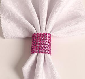 Image 5 - 100 個のラインストーンナプキンリング結婚式のテーブルデコレーション用祭パーティー用品結婚式タオルリング家の装飾のため