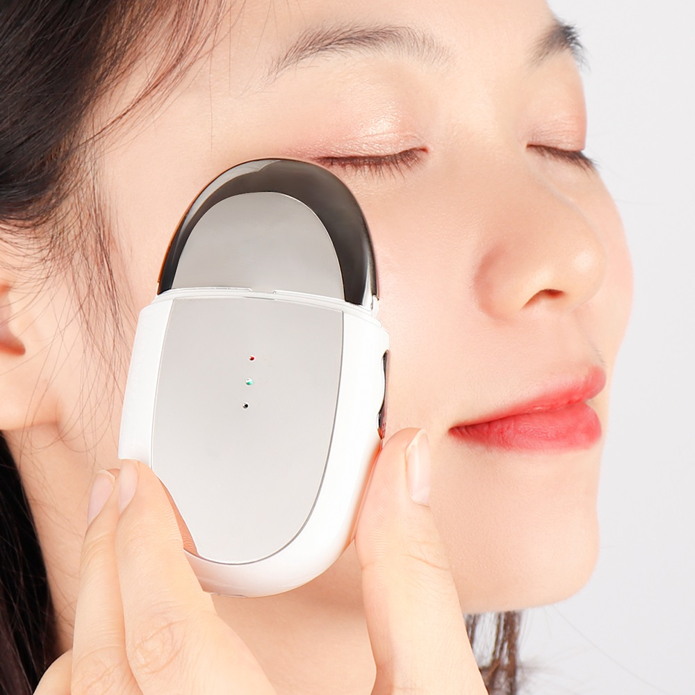 EMS Ion Eye Massager Heat Magnetic Vibrating Eye Care Device Diminishing Eye Bags Dark Circles Relieves Eye Fatigue Skin Tighten