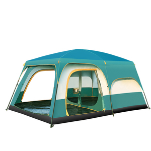 Image 4 - 5 10 Person Outdoor Camping Double Layer Tent Two Bedrooms Waterproof Big Space Family Tent