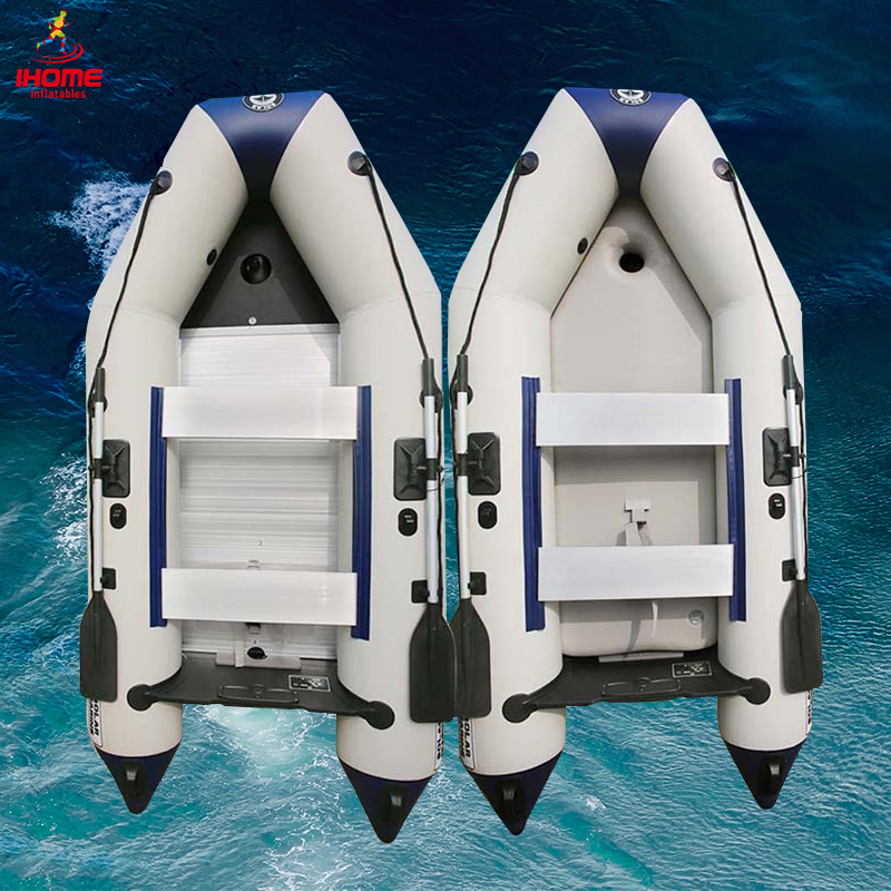 2.7M Inflatable Boat Anti-collision Thicken Rubber Assault Boat With Alloy Or Air Deck Floor For Fishing Dinghy Outdoor Sport