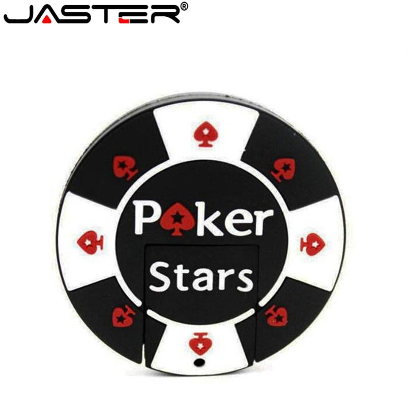 JASTER Bargaining Chip Shaped Pok Star Pen Drive 4GB 8GB 16GB 32GB USB Flash Drive