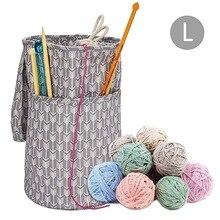 Прочная шерстяная сумка для хранения, переносная сумка для хранения с завязками, сумка для хранения с нитками, вязаные аксессуары 1