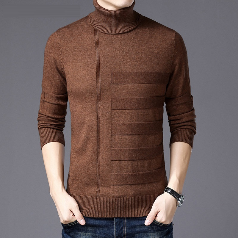ICPANS Mens Turtleneck Christmas Sweater Men Slim High Neck Pullovers Mens Sweaters 2019 Winter Thick Cashmere Homme