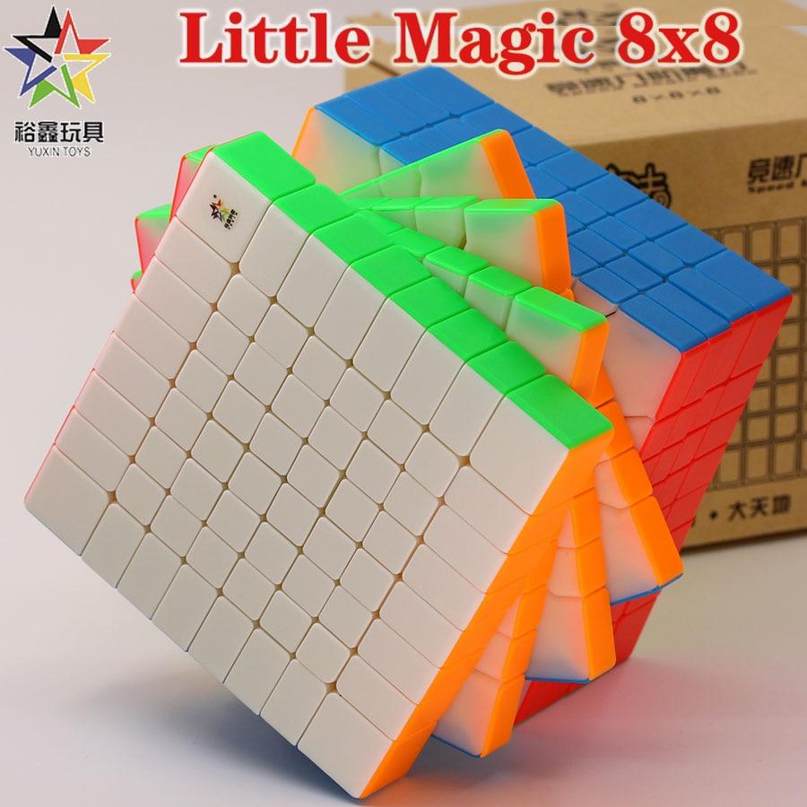 Magic cube puzzle YuXin Little Magic 8x8x8 8x8 professional educational high level cube twist wisdom creative toys game