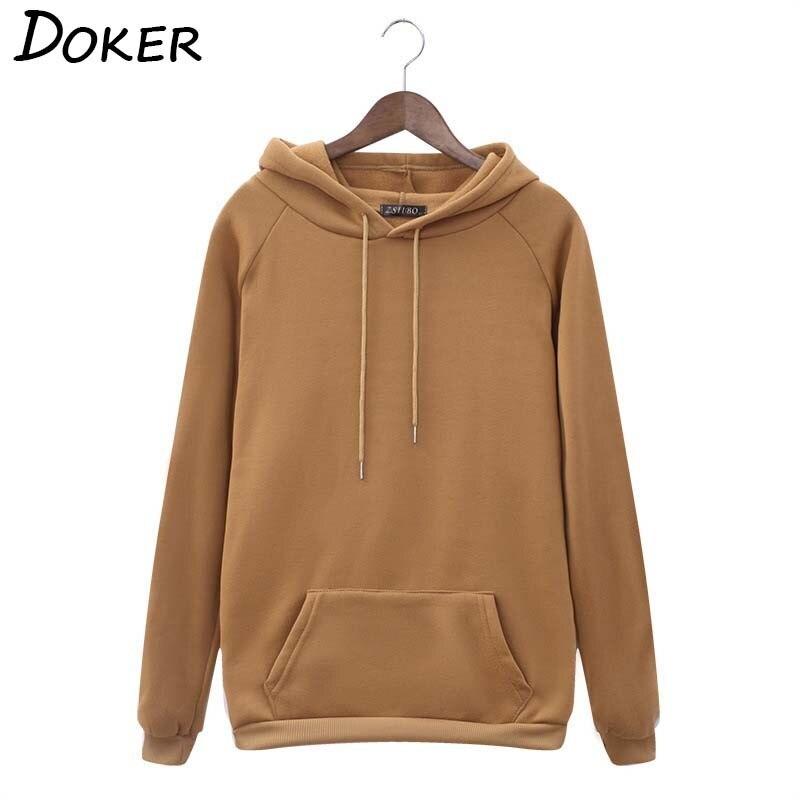 Autumn Winter Solid Hoodies Women Long Sleeve Fashion Plus Size Japanese Streetwear Ladies Hoody Tops Casual Loose Sweatshirt 1