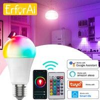 Tuya 10W 15W 18W WiFi lampadina intelligente E27 RGB LED lampada Timer dimmerabile con APP Smart Life, controllo vocale per Google Home ,Alexa