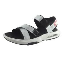High Quality Summer Mens Sandals Outdoor Rubber Non-slip Air Cushion Cushioning Beach Shoes Fashion Comfortable Canvas Sandals