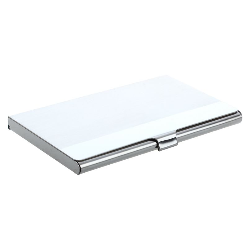 Stainless Steel Aluminum Case Transmission Case Commercial Business Card Credit Card Holder Horizontal Surface