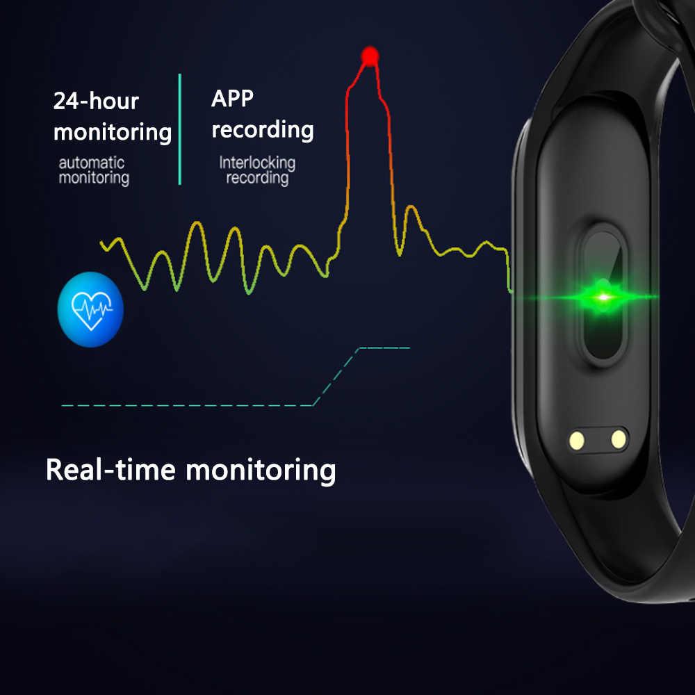M4 Smartband ספורט צמיד שעון קצב לב צג גשש כושר PK M3 פעילות דם לחץ כל טלפון חכם