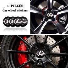 Auto Emblem Logo Wheel Center Hub Cover 4Pcs Cap 56mm Sticker For Lexus GS IS LS RX NX IS250 IS200 IS300 RX330 RX350 GX470 GS300