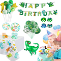 Dinosaur Party Decorations 1st Birthday Balloons Dinour Tableware Sets Kids Jurassic World Birthday Jungle Safari Party Supplies