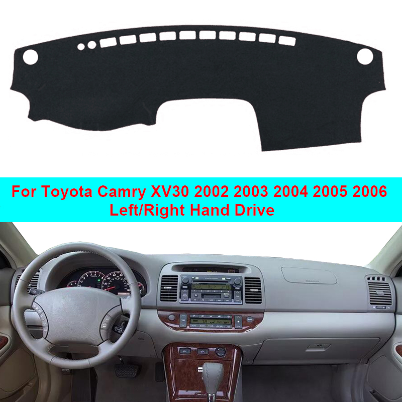 Car Dashboard Cover Dash Mat Pad For Toyota Camry XV30 2002 2003 2004 2005 2006 LHD RHD Dash Board Cover Carpet Auto Sun DashMat