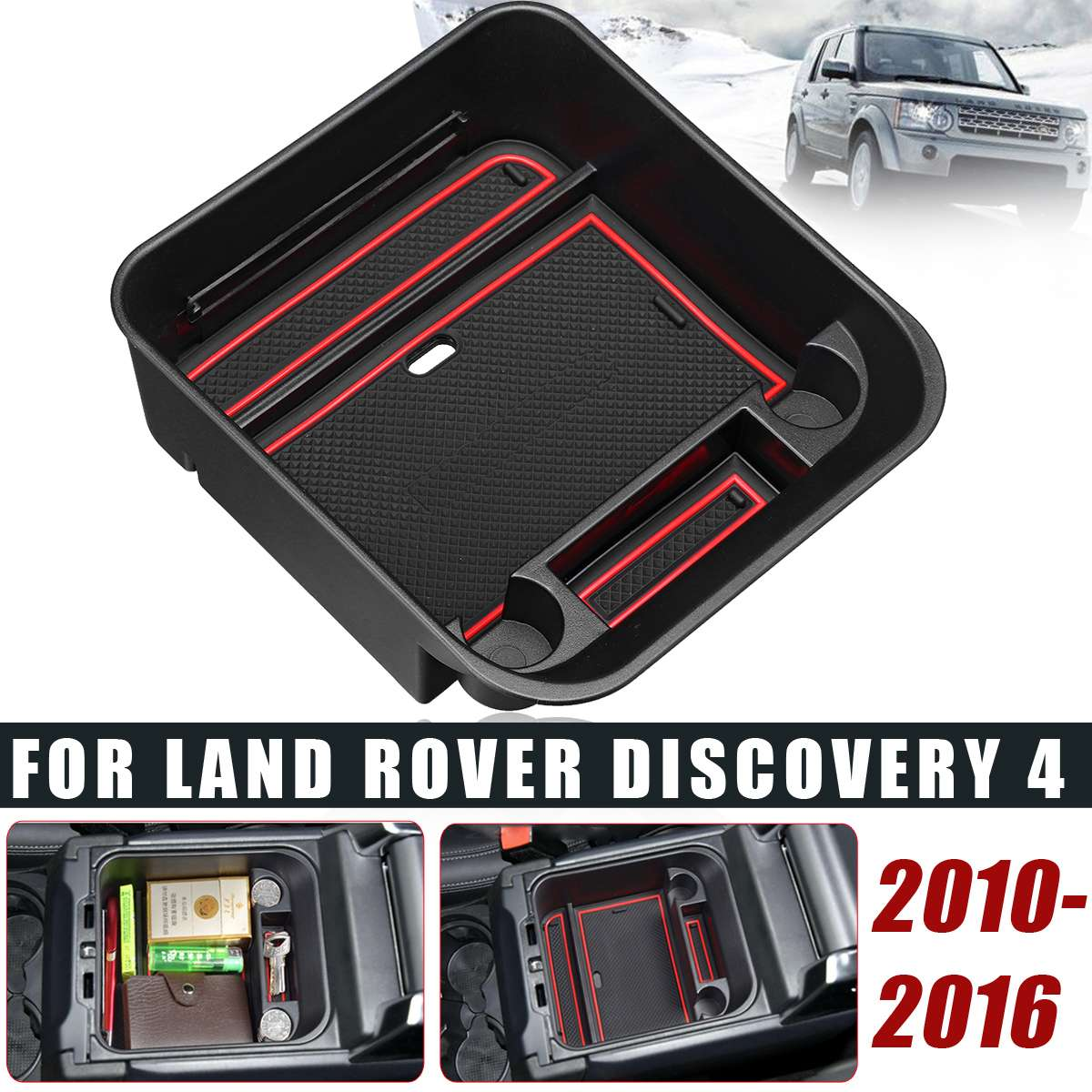 Armrest Storage Box for Land Rover Discovery 4 2010-2016 Central Console Tray