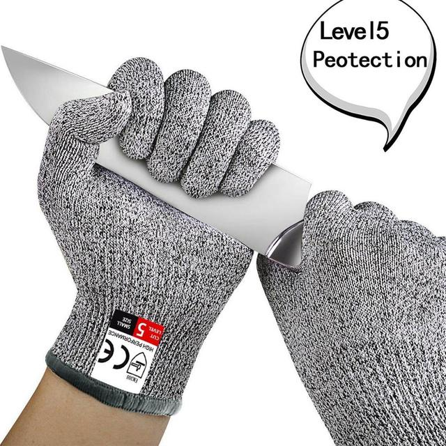 High-strength Grade Level 5 Protection Safety Anti Cut Gloves Kitchen Cut Resistant Gloves for Fish Meat Cutting Safety Gloves 1
