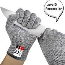 Haute résistance Grade niveau 5 Protection sécurité Anti-coupure gants cuisine résistant aux coupures gants pour la viande de poisson coupe gants de sécurité