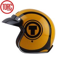 TORC T57 vintage motorcycle helmet jet Helmet scooter man moto helmets with inner shield capacetes motociclismo casque moto ECE|Helmets|Automobiles & Motorcycles -