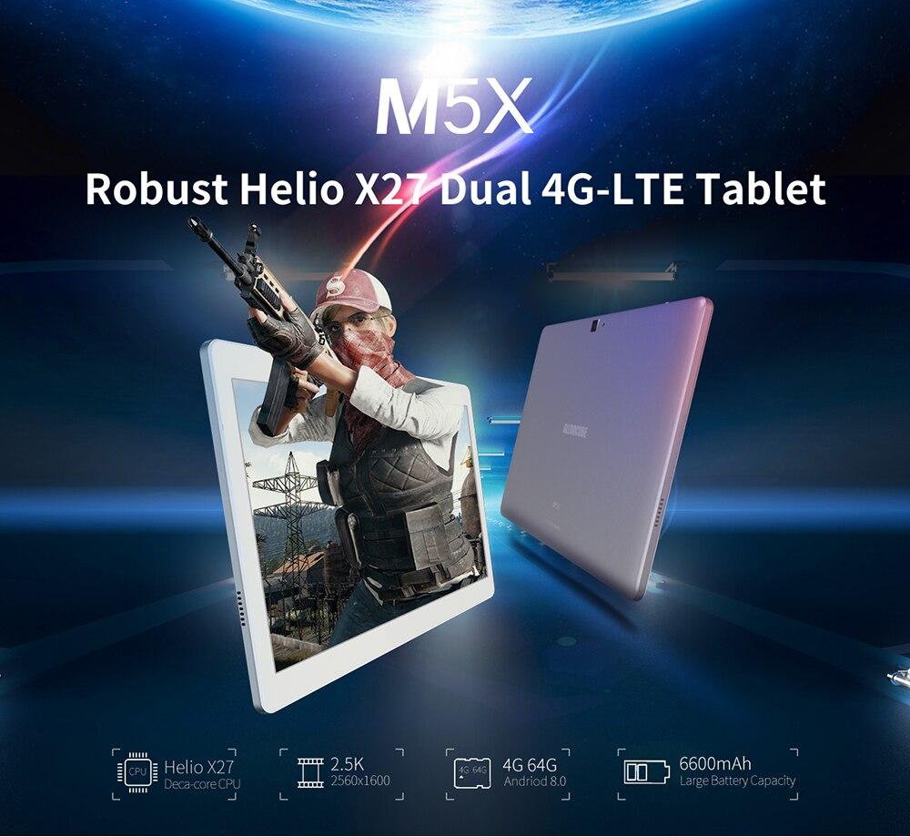 Image 3 - Alldocube m5x 10.1 polegada tablet android 8.0 4 gb ram 64 gb rom mtk x27 4g lte 10 core chamada de telefone comprimidos pc 2560*1600 ips presente do miúdoTablets   -