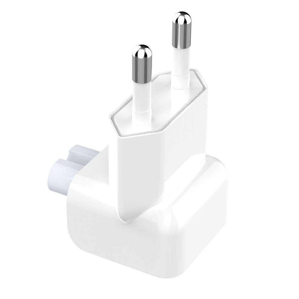 Gute qualität Euro Pin Stecker AC Ente Kopf Power Ladegerät EU Wand AC Stecker Adapter Für Apple MacBook Pro Air iPad Elektrische Europa