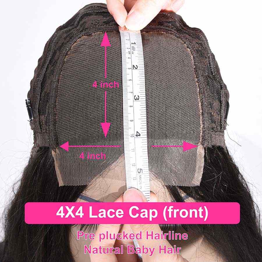 10-28 cal peruki zamknięcie koronki peruki brazylijski 4x4 zamknięcie peruka 100% ludzki włos koronki peruki Water Wave Remy dla kobiety 150 gęstości