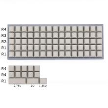 Llaveros Planck teclas de perfil de cereza en blanco para teclado mecánico mx