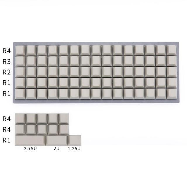 Planck keycaps mx 기계식 키보드 용 빈 체리 프로파일 키