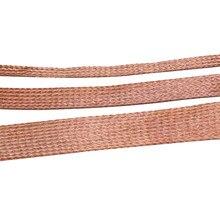 A trança de cobre pura de 1m 5m 10m fez malha a anti-interferência 2mm/4mm/6mm/8mm/12mm/14mm/18mm/25mm do fio de ligação flexibilidade cabo Flat