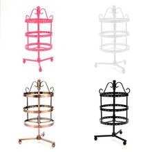 Necklace Jewelry Holder Three-layer Circular Rotating Earrings Display Stand Organizing