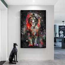 Abstract Lions Oil Paintings on Canvas Modern Colorful Animals Posters and Prints for Home Wall Art Decorative Pictures No Frame