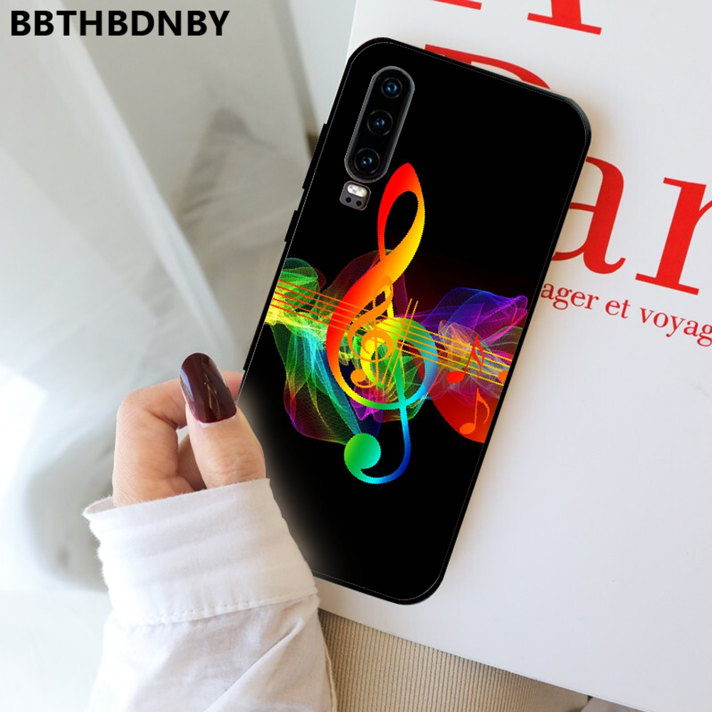 Musical Notes Violin Classical Music Phone Cover For Huawei P9 P10 P20 P30 Pro Lite smart Mate 10 Lite 20 Y5 Y6 Y7 2018 2019