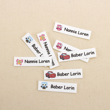 160pcs Custom Ironing Labels,  Cartoon labels, childrens clothing, personalized name tags for children, iron on (TB3262)