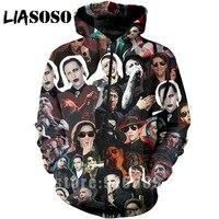3D Print Anime Long sleeve Sweatshirt marilyn manson shirt hip hop Streetwear jacket Harajuku zipper shirt hoodies hoodie A206
